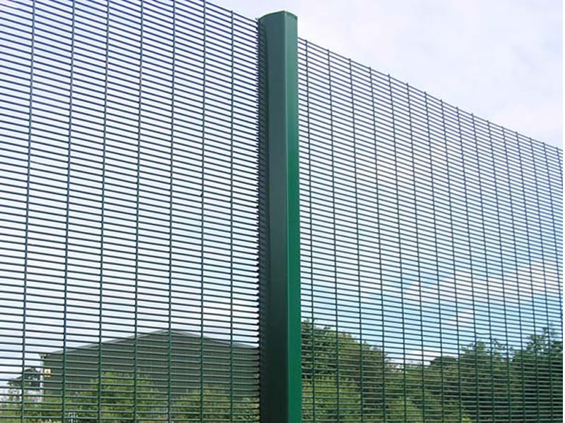Pvc Panel Mesh Fencing Green Conesecure