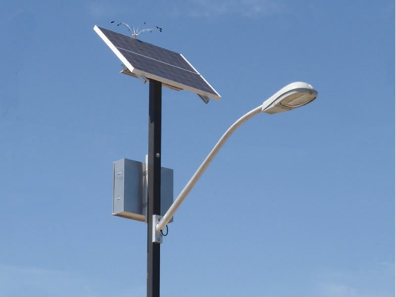 Single Side Solar Security Street Light Cones Secure